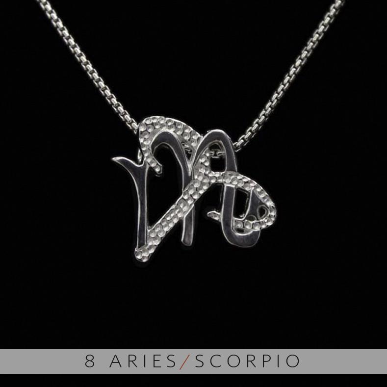 The aries and scorpio unity pendant on storenvy the aries and scorpio unity pendant aloadofball Choice Image
