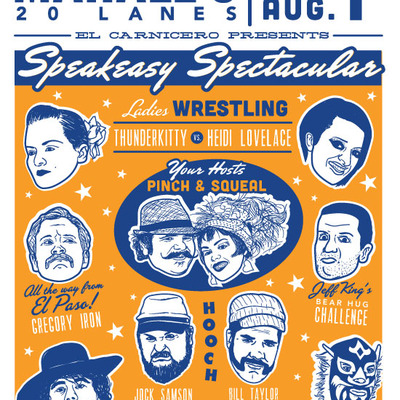 Speakeasy spectacular screen printed poster