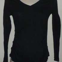 Long Sleeve Black Top with Ruched Sides-Old Navy Maternity Size Medium