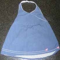 Navy Blue Halter With Lady Bugs-Gymboree Size 18-24 Months