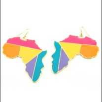 Africa Earrings Color Block