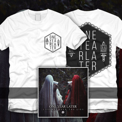 One year later - dead inside tee + cd
