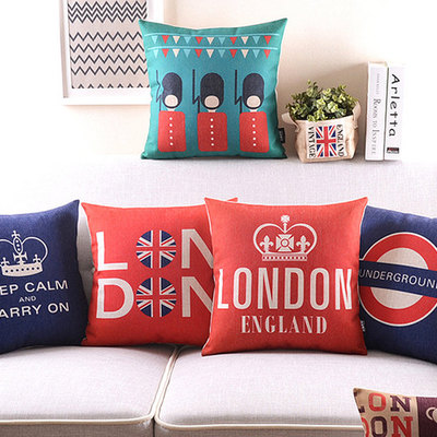 Vintage London Print Cushions Queen S Guard Keep Calm Carry On London