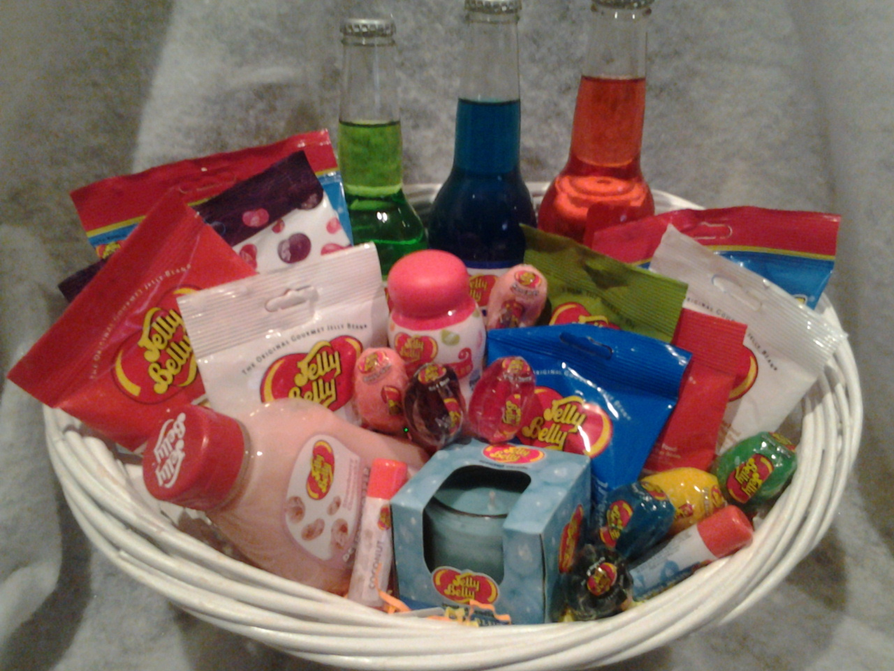 Jelly belly candy gift basket