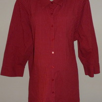 Red Shirt with Collar/Buttons-Motherhood Size 3X