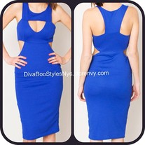 Royally Blue Bodycon Dress