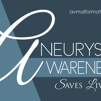 """Aneurysm Awareness Saves Lives"" Sticker (Blue)"