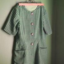 Green Houndstooth Lady's Blazer