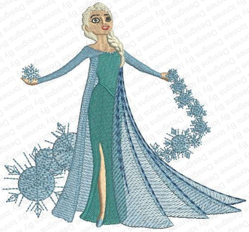 Elsa Snowflake Trails Of Wonders Filled Machine Embroidery