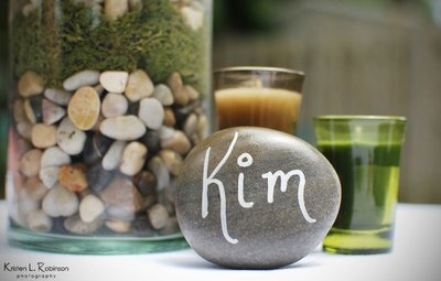 Place Card Stones - Handwritten