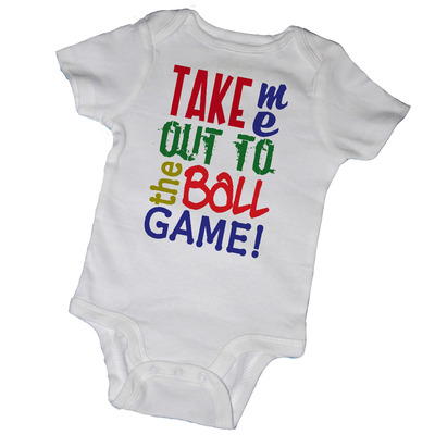 Take me out to the ball game bodysuits & tees