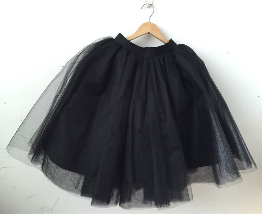 black tulle skirt skirt on storenvy