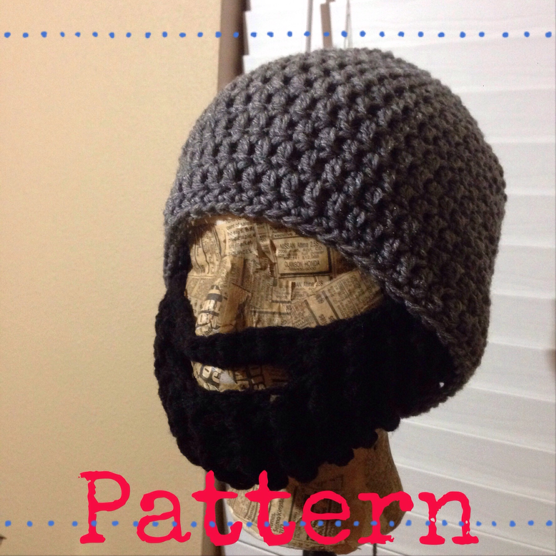 ... california stitches crochet patterns pattern crochet beard beanie