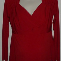 Red Long Sleeve Dressy Top-Motherhood Maternity Size Small