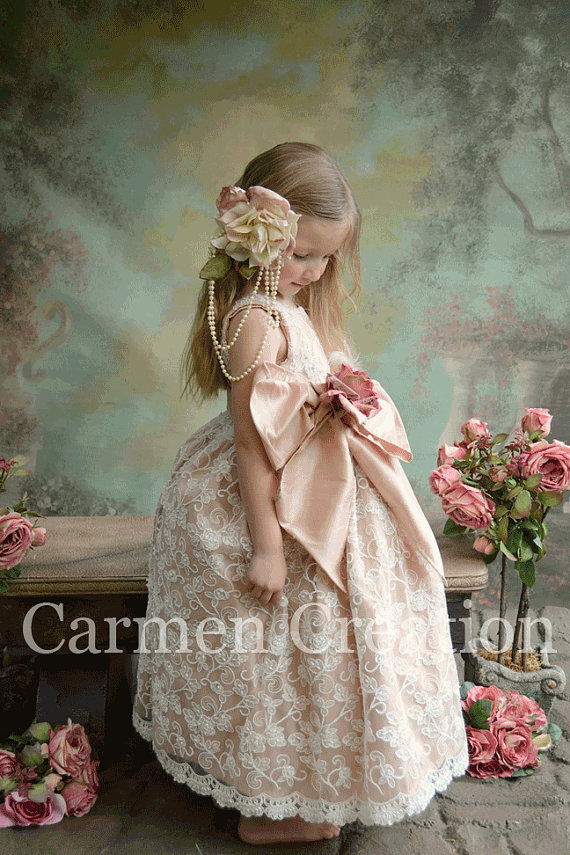30fc50f9a6 Venetian Flower Girl Dress · Carmen Creation · Online Store Powered ...