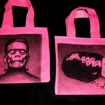 Frankenstein and His Bride, PAIR of Matching Mini Totes