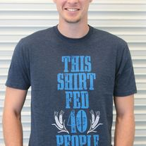 """This Shirt Fed 40 People"" - Navy Blue"