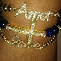 Blue & Gold Cross Stack
