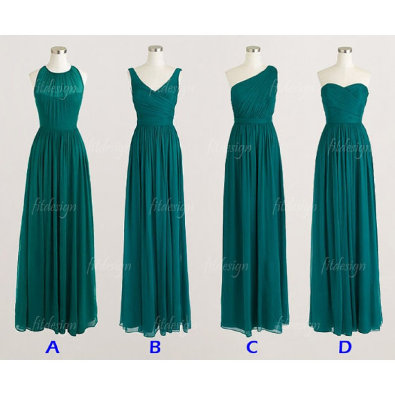 Long bridesmaid dresses teal bridesmaid dresses custom for Custom wedding dress online