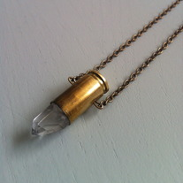 Crystal Quartz Bullet Necklace