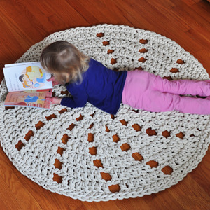 Pinwheel Rug - Round Cotton Rope Rug - Handmade Home Decor