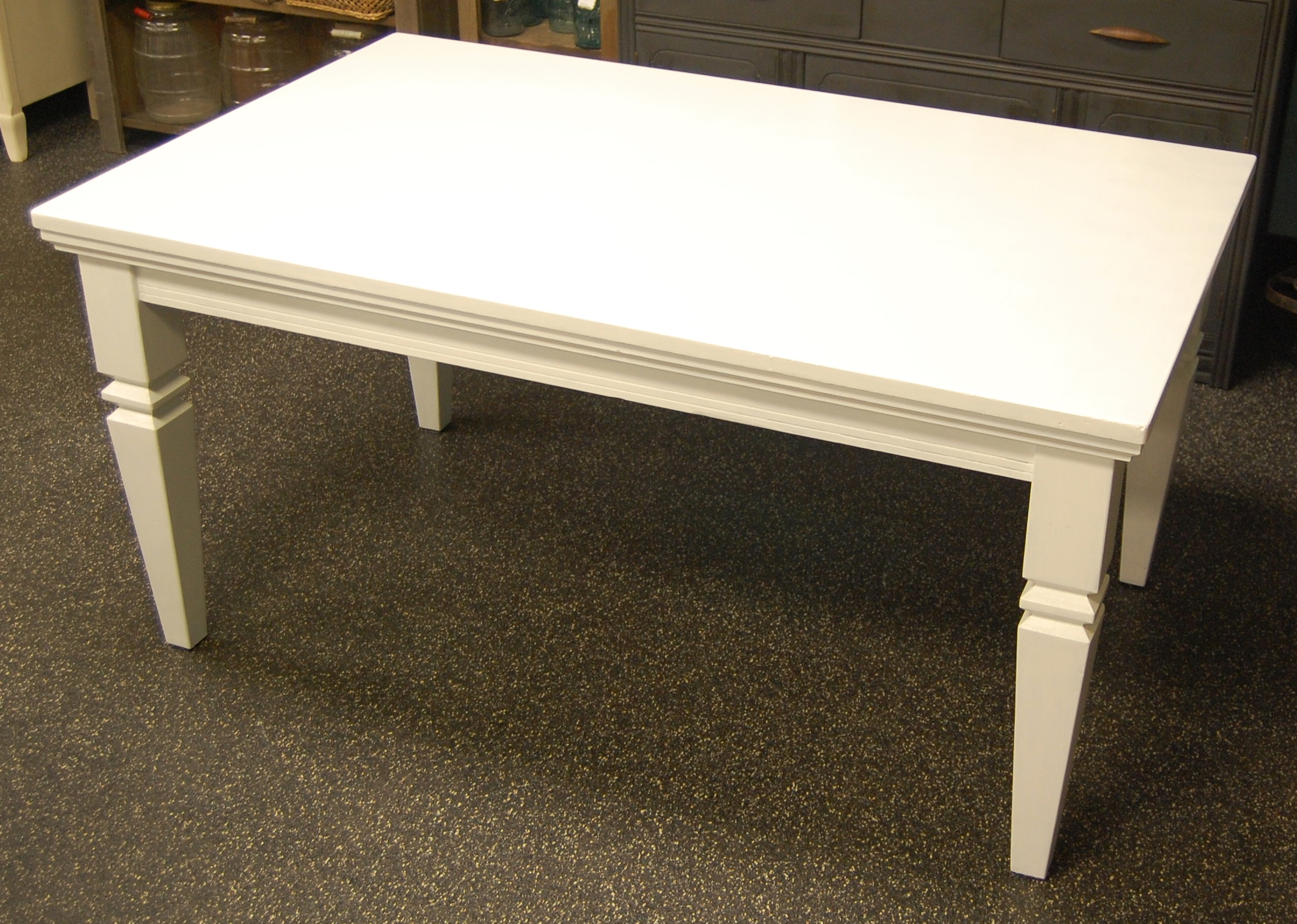Long Classic White Dining Table Marinus Home Online Store