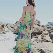 Vestido Largo Flores / Flower Long Dress 2WH180