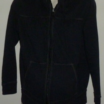 Black Hooded Zip Jacket-Duo Maternity Size Medium