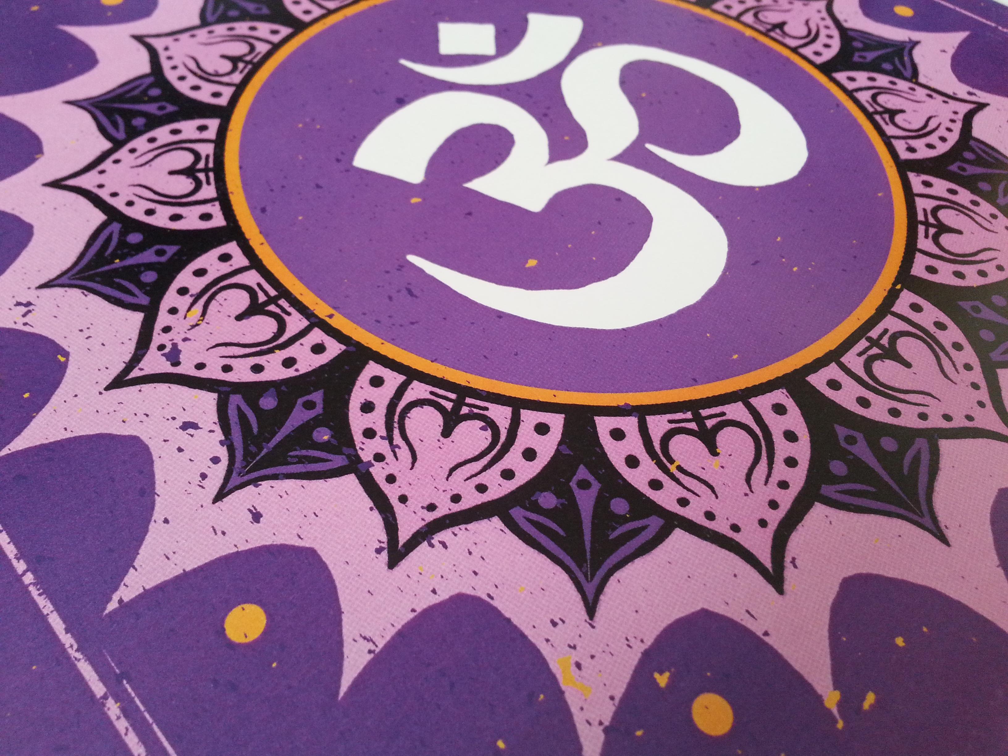Om Symbol With Lotus Flower Color Artmuffin Studio Online