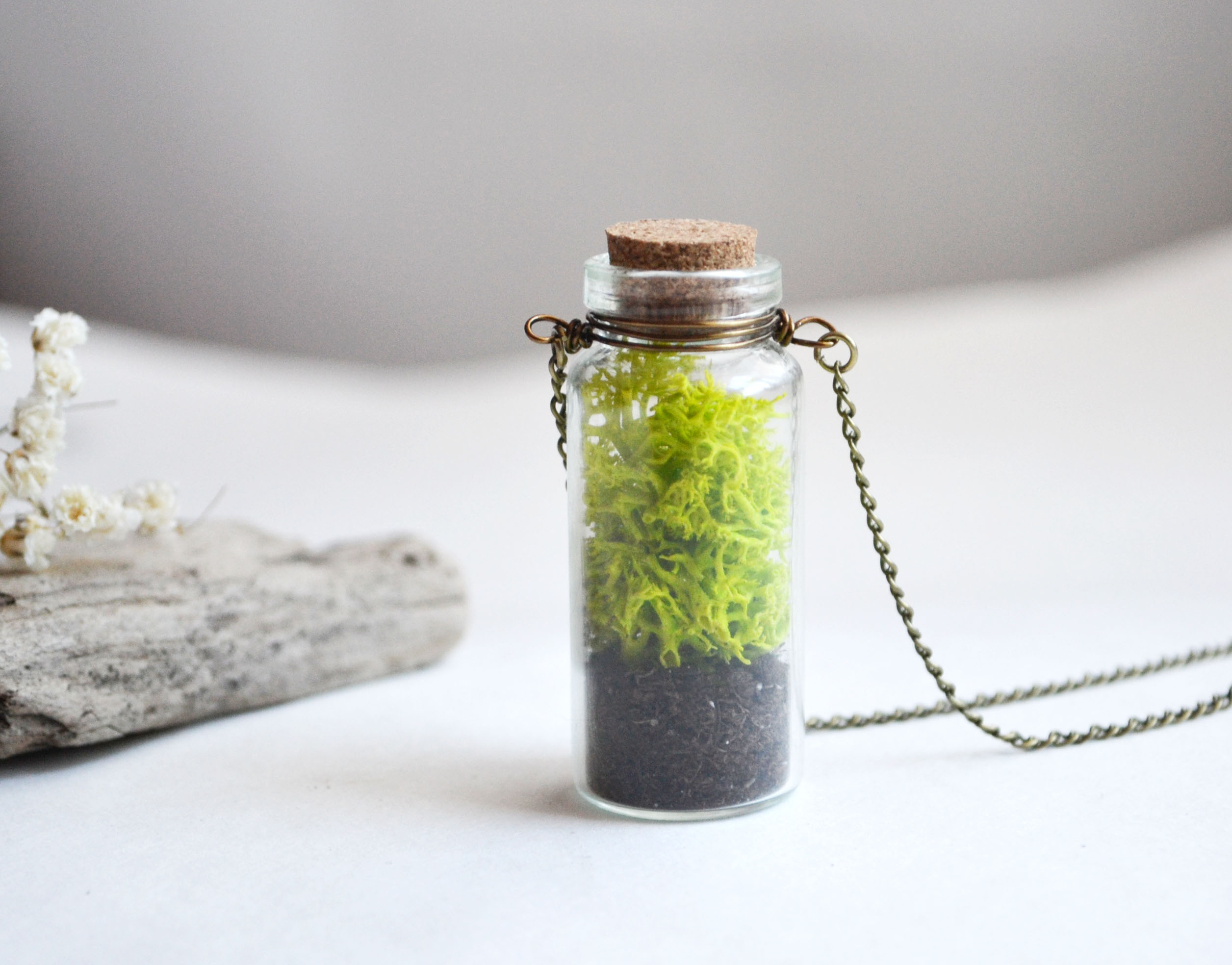 Moss necklace large moss necklace nature lover vial necklace moss necklace large moss necklace nature lover vial necklace glass vial aloadofball Image collections