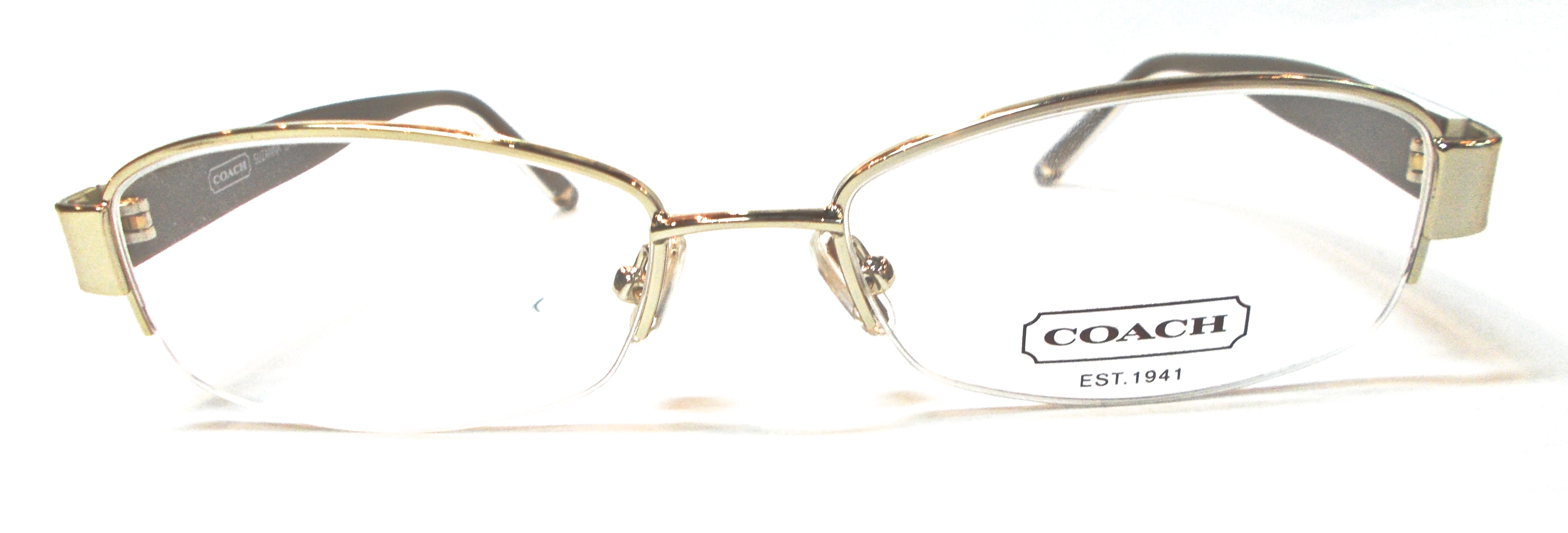 Coach Metal Eyeglass Frames : H&S Optical Coach Eyewear Suzanna (246) Golden Metal ...