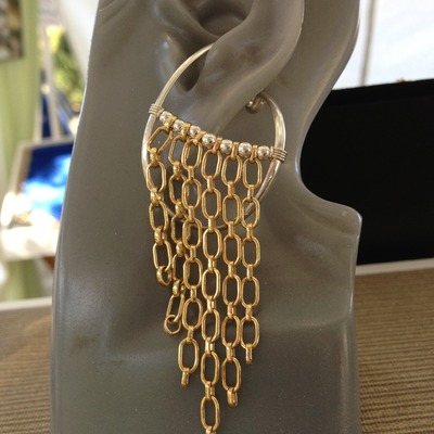 Gold-filled front chain
