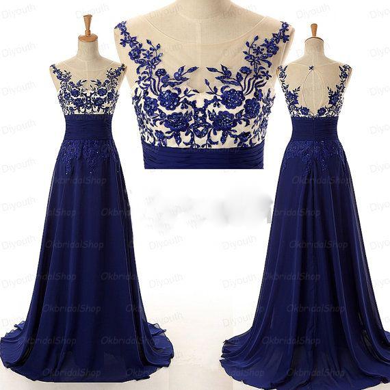 blue prom dress, long prom dress, cheap prom dress, 2018 prom ...