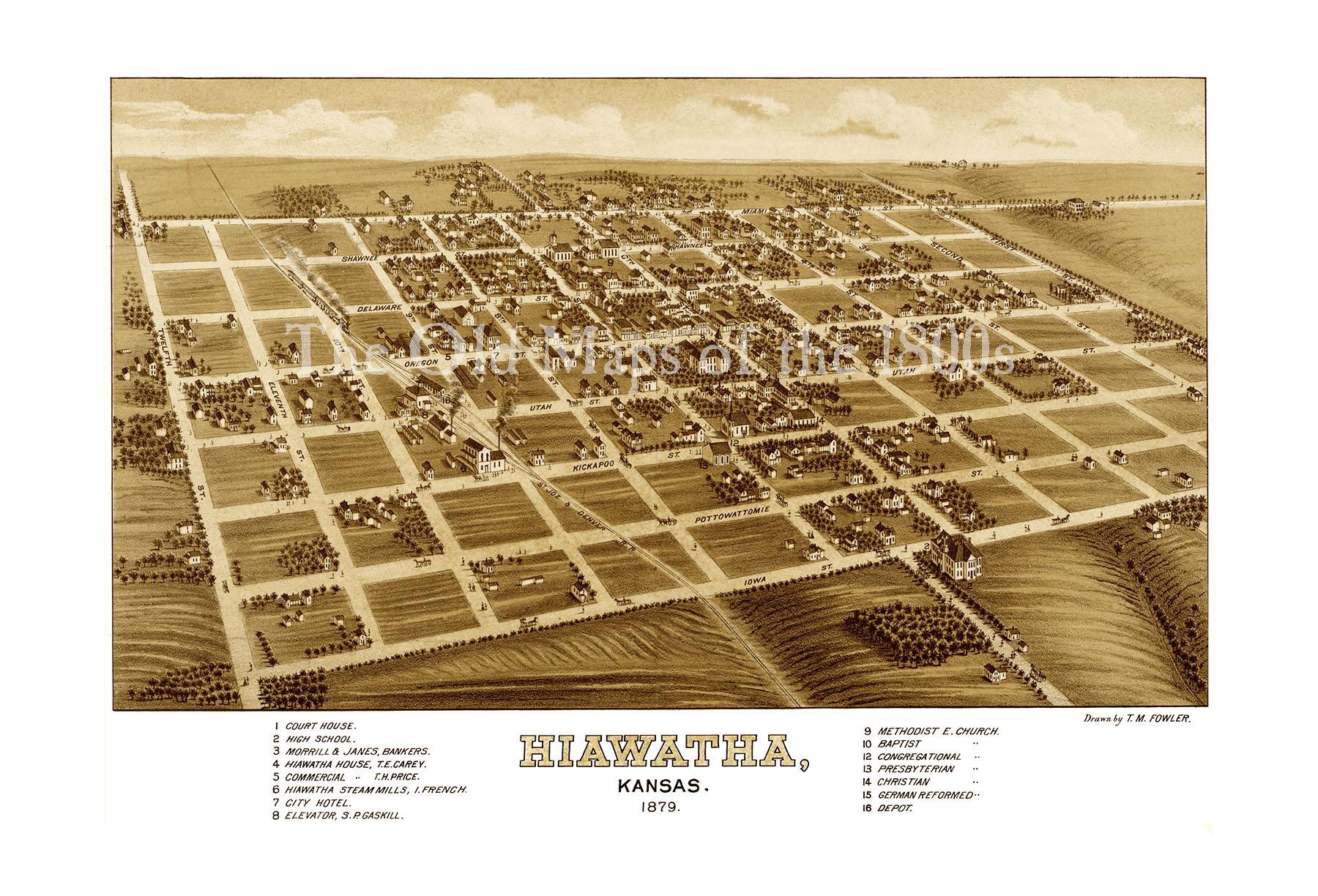 Hiawatha KS In 1879