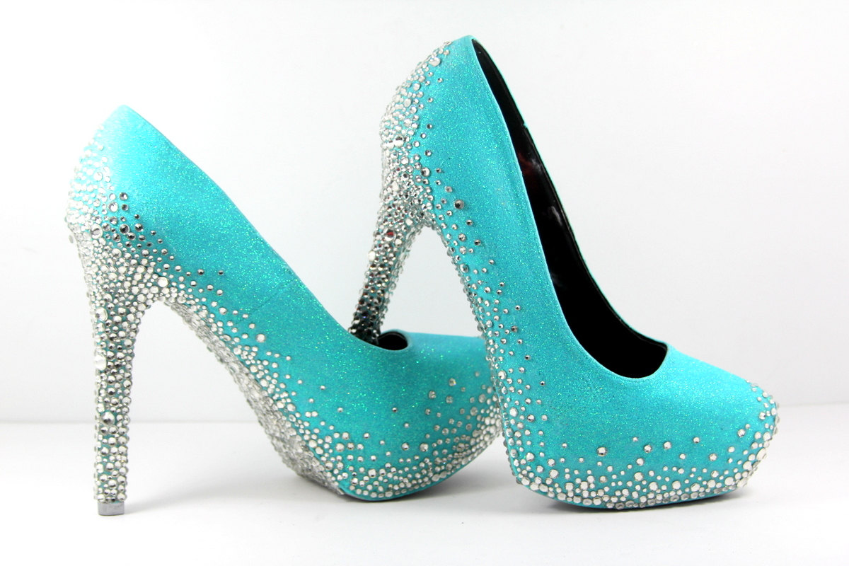 Teal Wedding Shoes For The Bride