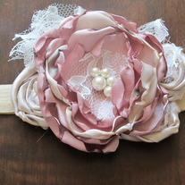 Soft Rose and Gold Glamour headband