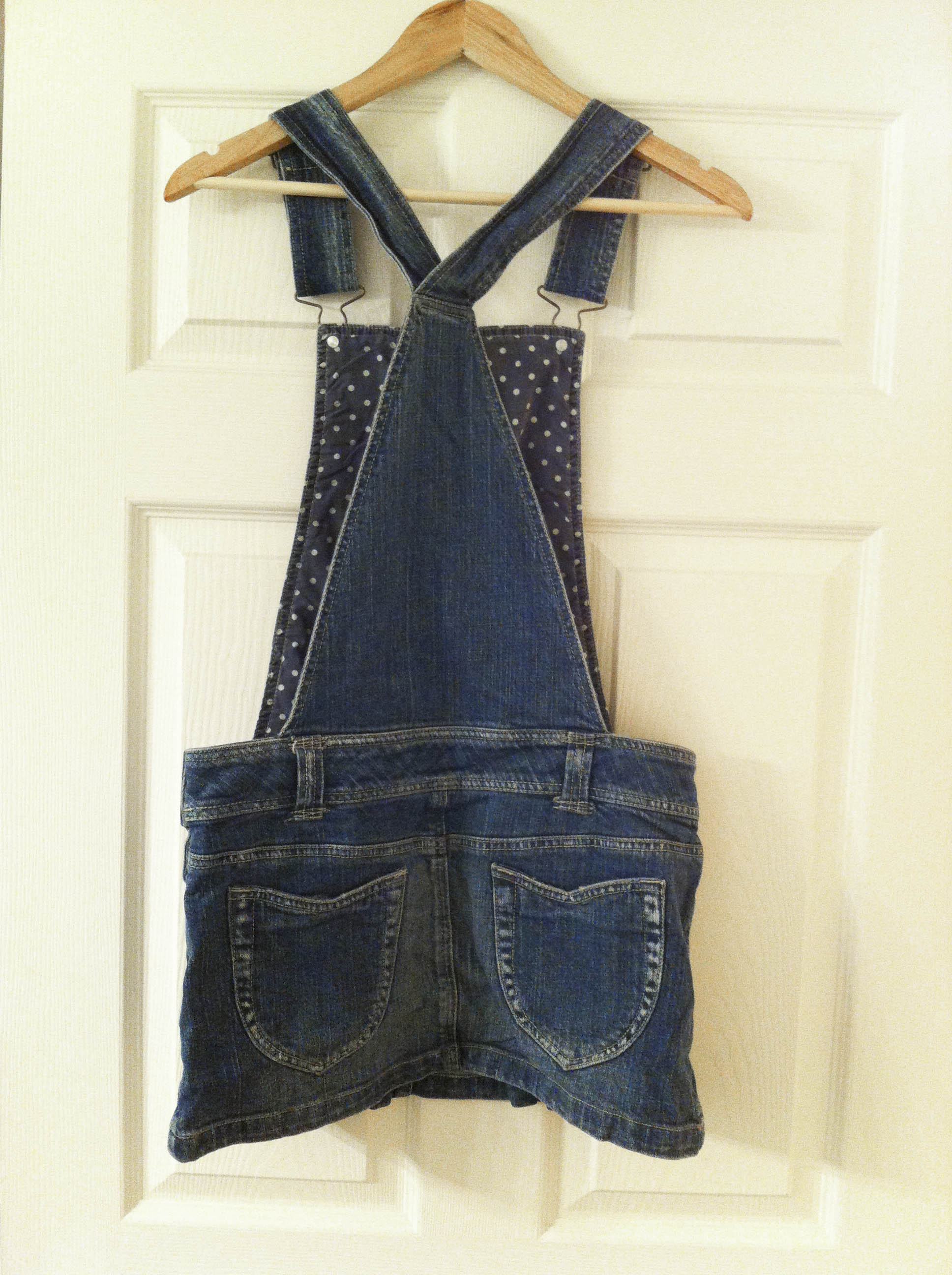 Model Womens Denim Overall Jumper Dress