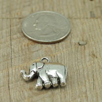 Lucky Elephant Pewter Charm