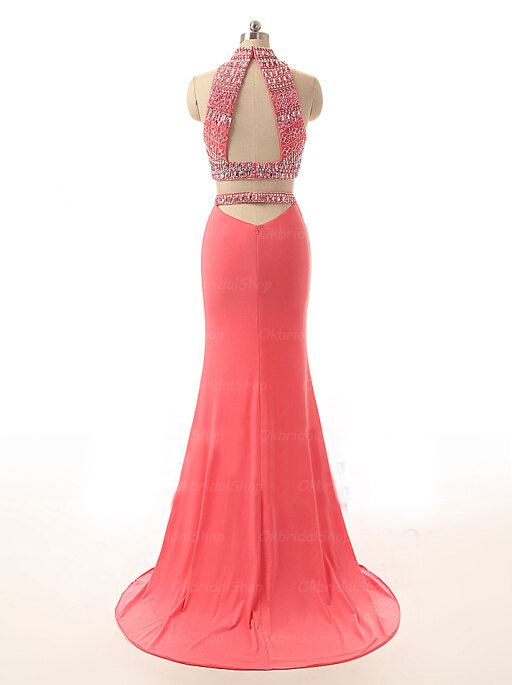 Cheap coral prom dresses 2018