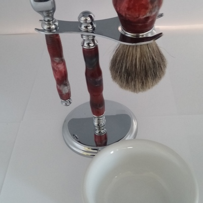Mach3 style razor and shaving set,with bowl