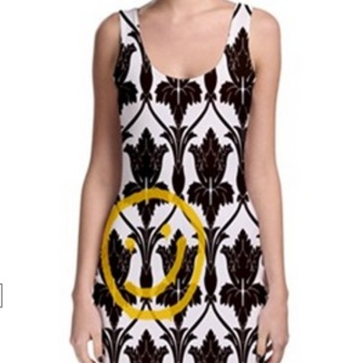 Sherlocks Wallpaper Bodycon Tank Dress XS 3XL Much Needed Merch Online Store Powered By Storenvy
