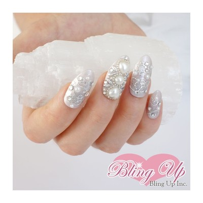 Bling Up Inc Silver Glitter Wedding 3d Bling Nail Art With