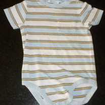 Light Blue/Yellow/White Short Sleeve Onesie-Janie and Jack Size 6-12 Months