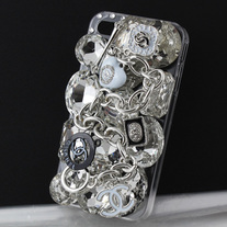 Silver Designer CC Case (iPhone 4/4s)