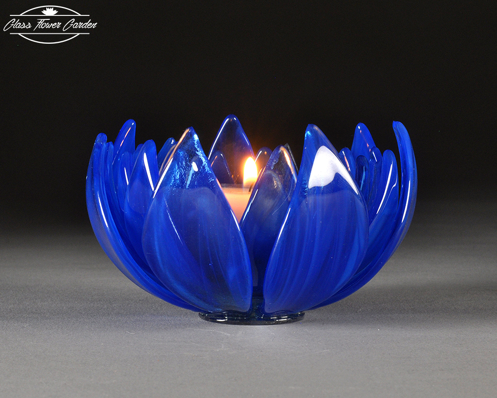 Blue Cathedral Lotus Glass Flower Glass Flower Garden Online