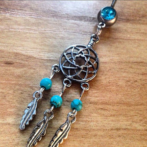 Tribal Dream Catcher Belly Ring