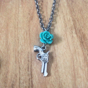 Pistol with Rose Necklace