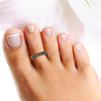 Sterling Silver Beaded Toe Ring