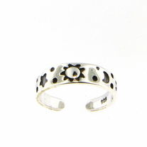 Sterling Silver Sun Moon & Stars Toe Ring