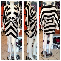Black & White Kimono Dress